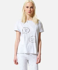 Top with text message, null£ - null - Find more trends in women fashion at Oysho . Sleepwear & Loungewear, Swimsuits, Swimwear, Wedding Bridesmaids, Summer Sale, Wedding Trends, Slogan, Spring Summer Fashion, Lounge Wear