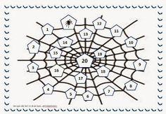 Rekenen is Top!: Rekenspel 19 Spinnenwebbenspel