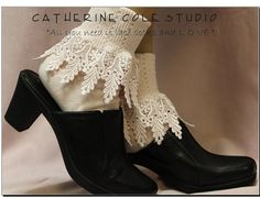My Signature lace socks / PEONY PINK long by CatherineColeStudio, $16.50