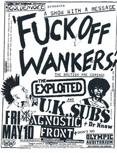 """""""The Exploited, U.K. Subs, Agnostic Front, and Dr. Know @ Olympic Auditorium """""""