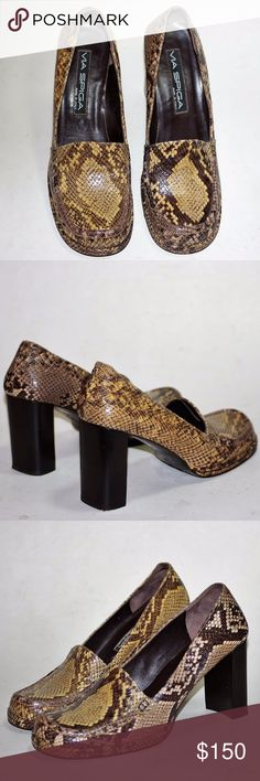 "VIA SPIGA Snakeskin ITALIAN Pumps Platforms Heels VIA SPIGA Snakeskin ITALIAN Pumps Platforms Heels Expertly Handcrafted in ITALY by VIA SPIGA Sz 8 Enjoy the natural subtleties in pattern and color of these genuine snakeskin Platform Pumps 3.25"" Cube Block Heels RETIRED style Authenticity: Pictures show authenticity. If you need more pics, please request them. Do not purchase until you are satisfied of authenticity and condition from pictures, questions or research of style/brand or send…"