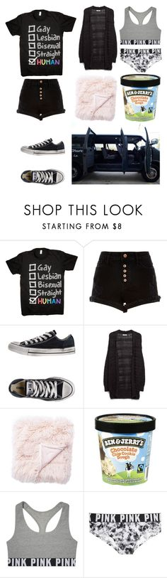 """""""Untitled #3967"""" by llamapoop ❤ liked on Polyvore featuring River Island, Converse, MANGO, Jaipur and Victoria's Secret PINK"""