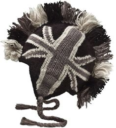 Nirvanna Designs CH82B British Mohawk Hat with Fleece, Black >>> Check out this great product.