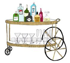 How To… Stock Your Bar Cart(Illustration by Katie Evans)