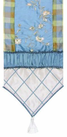 Jennifer Taylor 2609-571572573 Table Runner, 16-Inch by 90-Inch, Cover 100-Percent Polyster by Jennifer Taylor. $123.06. Shirredwith tassels and braid. Table runner cover 100-percent polyster. Home decor brings classic style and luxurious comfort to the home. Jennifer Taylor Table Runner, 16-inch by 90-inch, Cover 100-percent polyster, Shirredwith tassels and braid, Classic Style