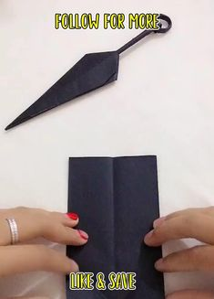 Cool Paper Crafts, Paper Crafts Origami, Fun Diy Crafts, Origami Tutorial, Diy Tutorial, Instruções Origami, Naruto Uzumaki Art, Anime Crafts, Toddler Crafts