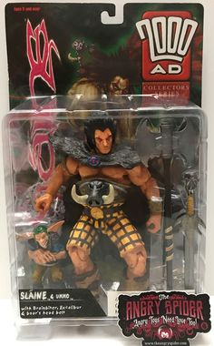 We always have the hottest Vintage Toys at The Angry Spider.  Now available: TAS037450 - 1999 ...  Check it out here: http://theangryspider.com/products/tas037450-1999-re-action-2000-ad-action-figure-slaine-ukko?utm_campaign=social_autopilot&utm_source=pin&utm_medium=pin