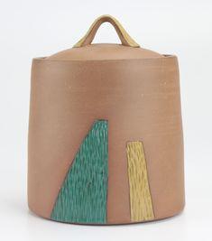 lidded ceramic jar by Bekah Bliss Ceramic Jars, Ceramic Studio, Sculpture Art, Bliss, Pottery, Ceramics, Artists, Ceramica, Ceramica