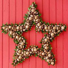 Transform Nuts into a Star Wreath