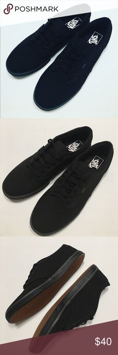 🆕 Vans Without Tag Or Box New Vans black with black soles perfect sneakers for anything you want to wear. Will not come with a box. Vans Shoes Sneakers