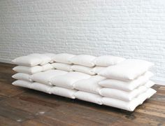 Sofá de travesseiros - pillow couch