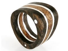 Silver & Wood Ring