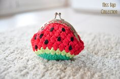 Watermelon Coin Purse by MissBajoCollection on Etsy