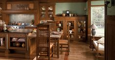 Craftsman Style Kitchen by Wood-Mode - Small