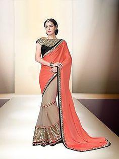 a9d0e82728 Wedding Saree Party wear Sari 9029 Ethnic Bridal Bollywood Designer Indian  Fancy Ethnic Wedding, Chiffon