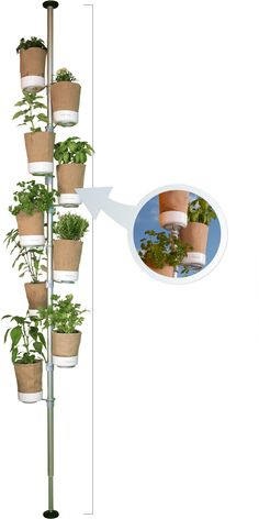 Urban Planty - eco- and plant-friendly planters made of jute | #Horticool #ApartmentGardening #Gardening