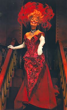 Carol Channing, in the original Broadway production of Hello Dolly! Bette Midler Hello Dolly, Hello Dolly Broadway, Carol Channing, Movie Costumes, Musical Theatre, Movie Stars, Musicals, Lady, Stage