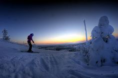 Levi, Finland. Great for skiing. This is not me in the photo....