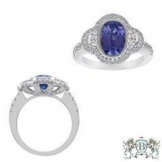 Blount Jewels 18k White Gold Tanzanite And Diamond Ring (rd 0.55ct, Hm 0.24ct, Tz 2.58ct)