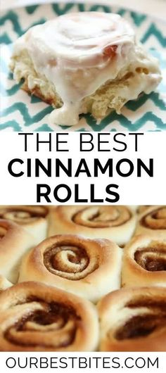 Homemade Cinnamon roll recipe from Our Best Bites perfect for Christmas morning cinnamon rolls or any day! These soft gooey cinnamon rolls are quick and easy to make!