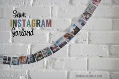 Sewn Instagram Garland: Adorable way to display your Instagram photos!