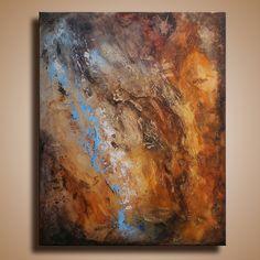 Original texturierte abstrakten Malerei auf Leinwand von itarts