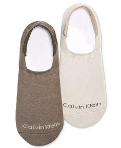 Calvin Klein Men's No-Show Socks, 3 Pack