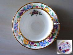 Royal Stafford Tea Cup and Saucer VIOLA