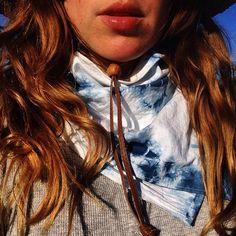 treyummy shibori + indigo dyed bandana