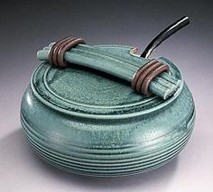 Green Soup Tureen with Ladle by Jan Schachter: Ceramic Casserole available at www.artfulhome.com