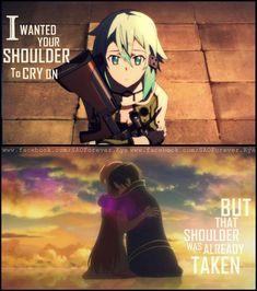So dramatic...but pretty much every singal girl kirito meets falls in love with him