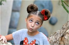 Mindy McKnight of Cute Girls Hairstyles has a fun tutorial for your own Minnie Mouse hairstyle! Is it your hair that shows your Disney Side or do you have an. Disney Hairstyles, Cute Girls Hairstyles, Bun Hairstyles, Gorgeous Hairstyles, Halloween Hairstyles, Teenage Hairstyles, Updo Hairstyle, Wedding Hairstyles, Children Hairstyles