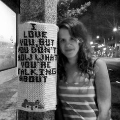 Off-Ramp : Yarn Bombing: A peaceful form of street art | 89.3 KPCC