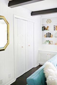 Add Geometric Panels to Your Plain Closet Doors!
