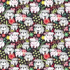 Bulldogs fabric by dariara on Spoonflower - custom fabric