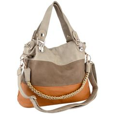 MG Collection ECE Beige Caramel Tri-tone Hobo Handbag w/ Shoulder Chain MG Collection http://smile.amazon.com/dp/B008NF8YFW/ref=cm_sw_r_pi_dp_CE83tb0CDCWGV61R