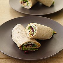 These turkey wraps are a great idea for lunch on the go. Wrap them in wax paper and then aluminum foil so you can just peel the wrappings down and enjoy. #WWLoves #recipe
