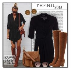 """#583 - Best Trends of 2016"" by lilmissmegan ❤ liked on Polyvore featuring Nicki Minaj, Steve Madden, Chloé, Marc by Marc Jacobs, Louise et Cie, Boots, shirtdress, trend, 2016 and besttrend2016"