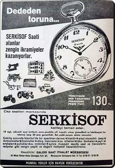 Eski bir saat reklamı (1967) #birzamanlar #istanlook #nostalji Old Advertisements, Advertising, Nostalgia, Old Ads, Old Pictures, Istanbul, Retro Vintage, Memories, History