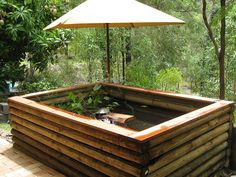 How To Build An Deck Top Pond In 4 Easy Steps Diy Pond Ideas Water Gardens Fountains