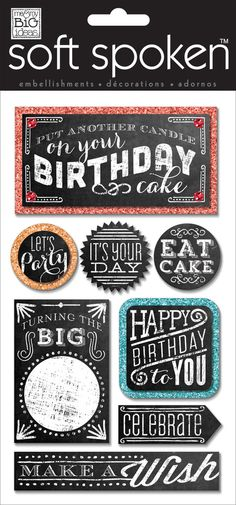 Happy Birthday Chalkboard – me & my BIG ideas
