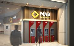 ATM Hall of MAB Bank in Myanmar