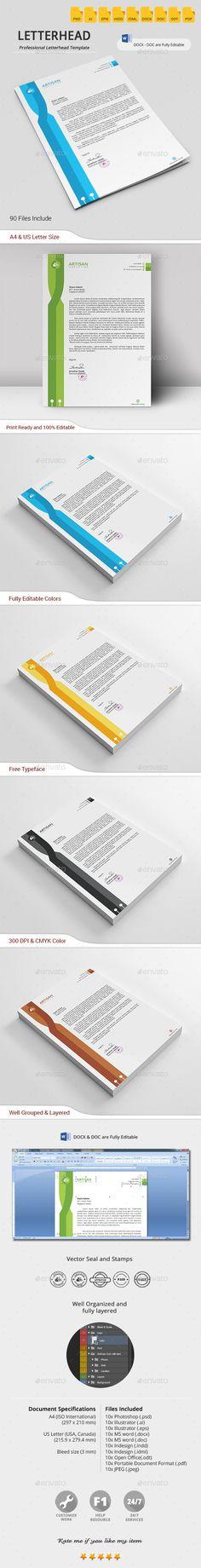 #Letterhead - #Stationery #Print #Templates Download here: https://graphicriver.net/item/letterhead/10196940?ref=alena994