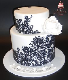 Lace Look Birthday Cake
