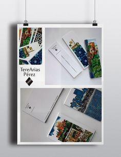 souvenir de tarjetas y postales con acuarelas