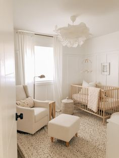 NURSERY TOUR: DIY Board and Batten, Mix and Match Textiles