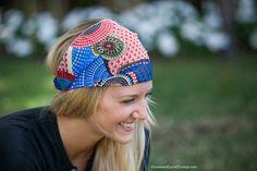 SaLE Chiffon Headwrap RED/multicolor headband  by GraceandLaceCo, $10.00
