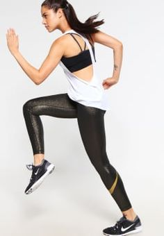 Nike Performance - Tights - black/metallic/gold