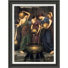 Global Gallery 'Danaides' by John William Waterhouse Framed Painting Print Size: