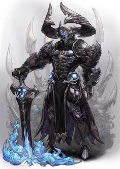 dark knight, Chocofing R on ArtStation at https://www.artstation.com/artwork/LaNWK